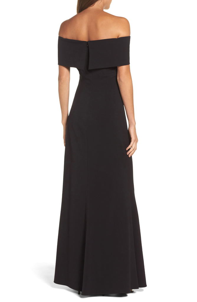 Yieldings Discount Clothing Store's Off-the-Shoulder Gown by Eliza J in Black