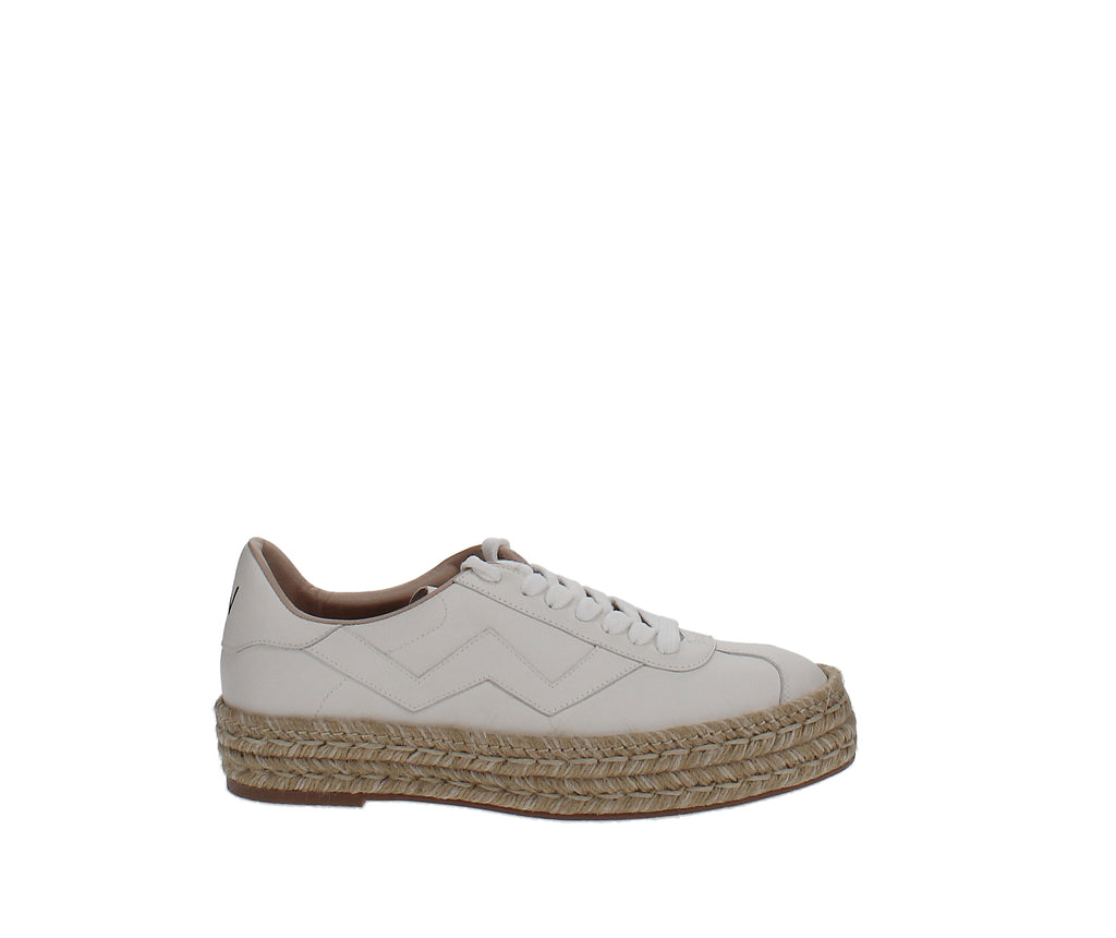 Yieldings Discount Shoes Store's Daryl Espadrille Sneakers by Stuart Weitzman in Cream