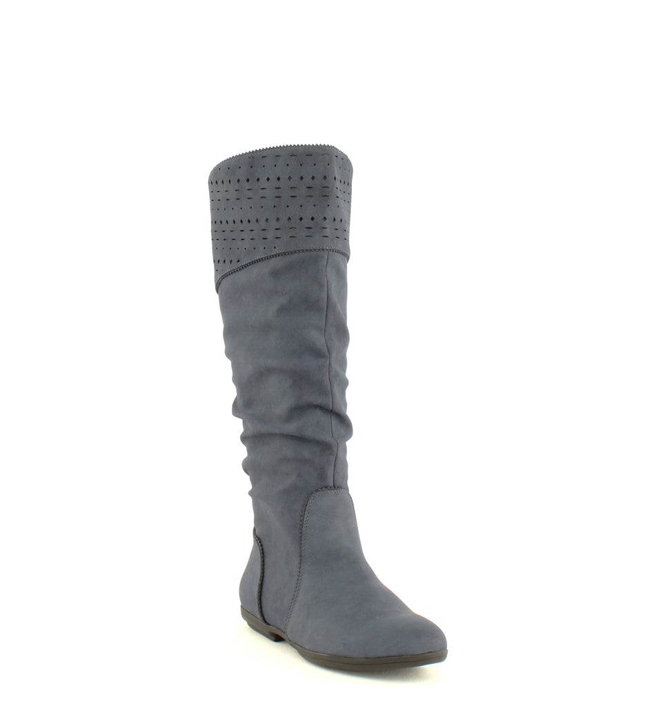 Yieldings Discount Shoes Store's Dillon Riding Boot by Seven Dials in Navy