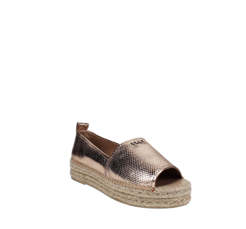 Yieldings Discount Shoes Store's Mer Peep Toe Espadrilles by DKNY in Rose Gold