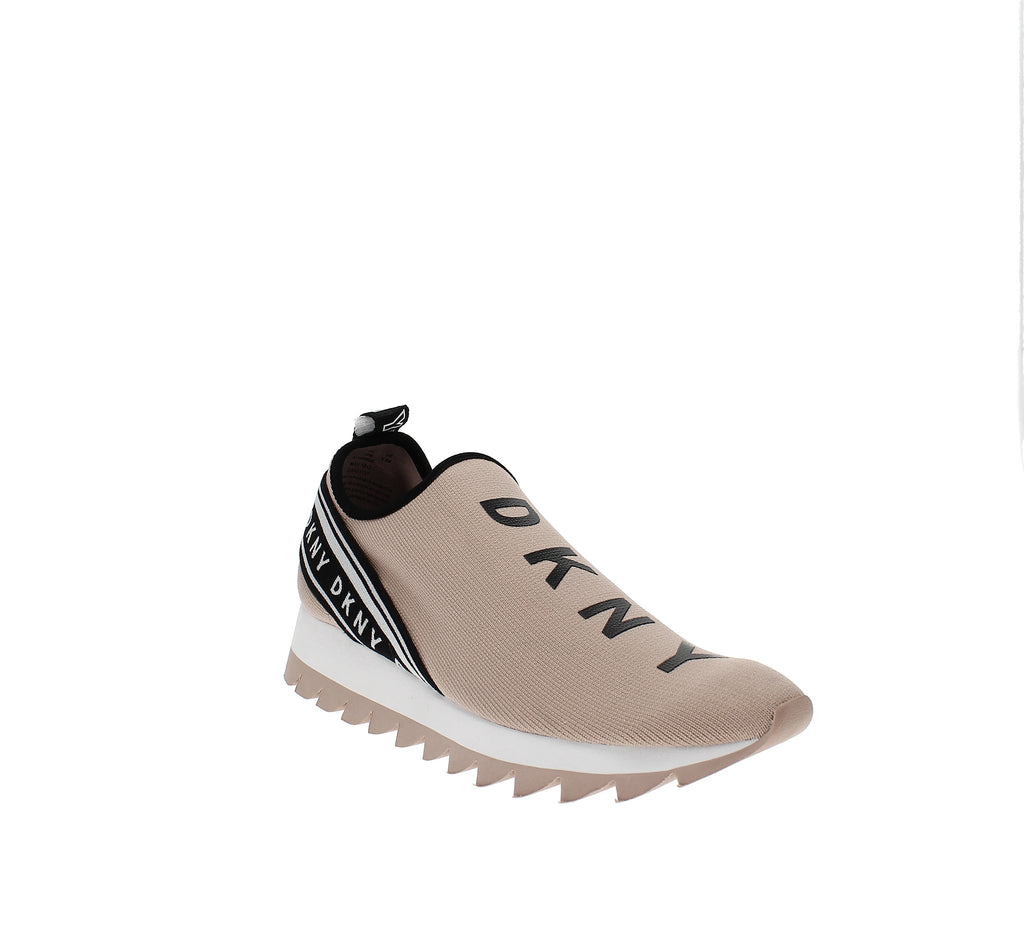 Yieldings Discount Shoes Store's Abbi Slip On Sneakers by DKNY in Stretch Nude