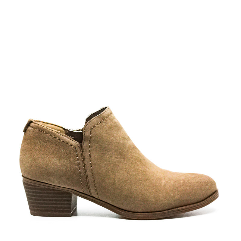 Yieldings Discount Shoes Store's Zarie Nubuck Booties by Naturalizer in Taupe