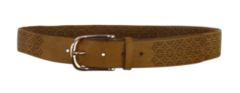INC | Floral Perforated Belt