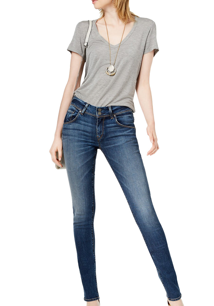 Yieldings Discount Clothing Store's Collin Midrise Skinny Reverie Denim by Hudson in Blue