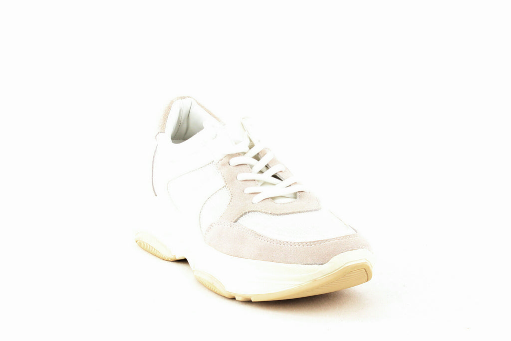 Yieldings Discount Shoes Store's Ike Lace-Up Sneakers by Aqua in White