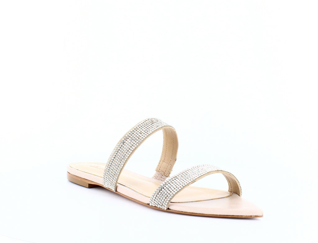 Yieldings Discount Shoes Store's Jenita Embellished Slide Sandals by Schutz in Cristal