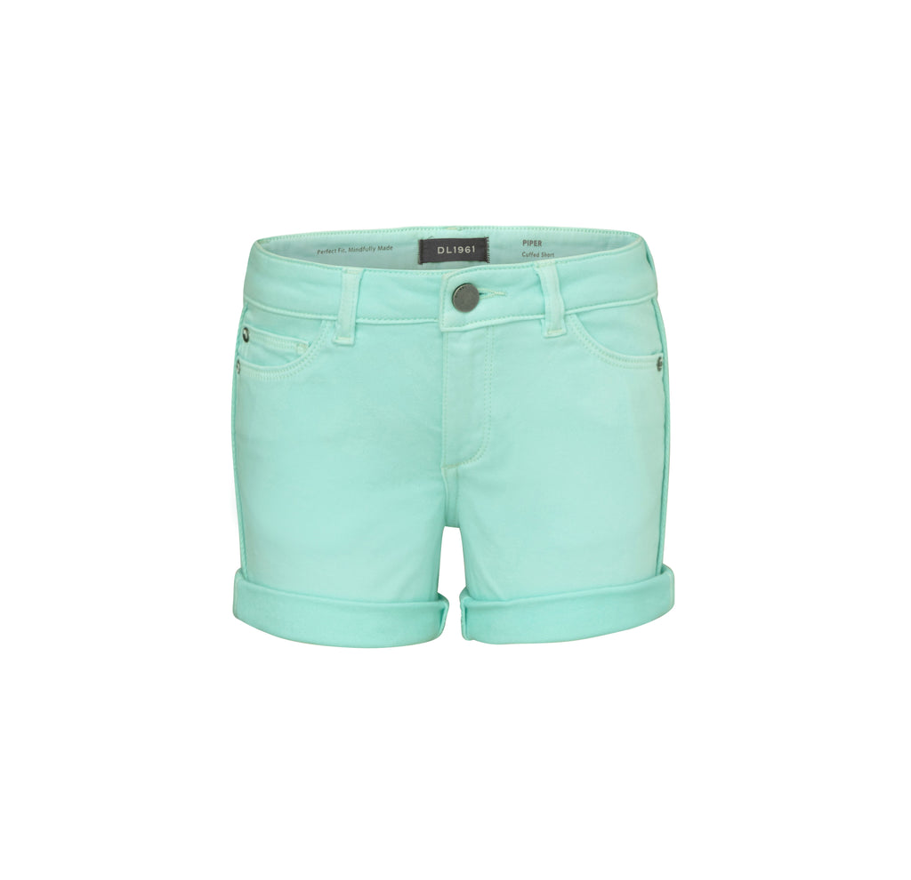 Yieldings Discount Clothing Store's Piper - Cuffed Short by DL1961 in Foam Green