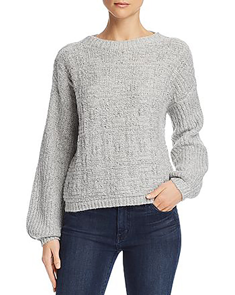 Yieldings Discount Clothing Store's Sunday Feels Knit Sweater by Sage the Label in Heather Grey