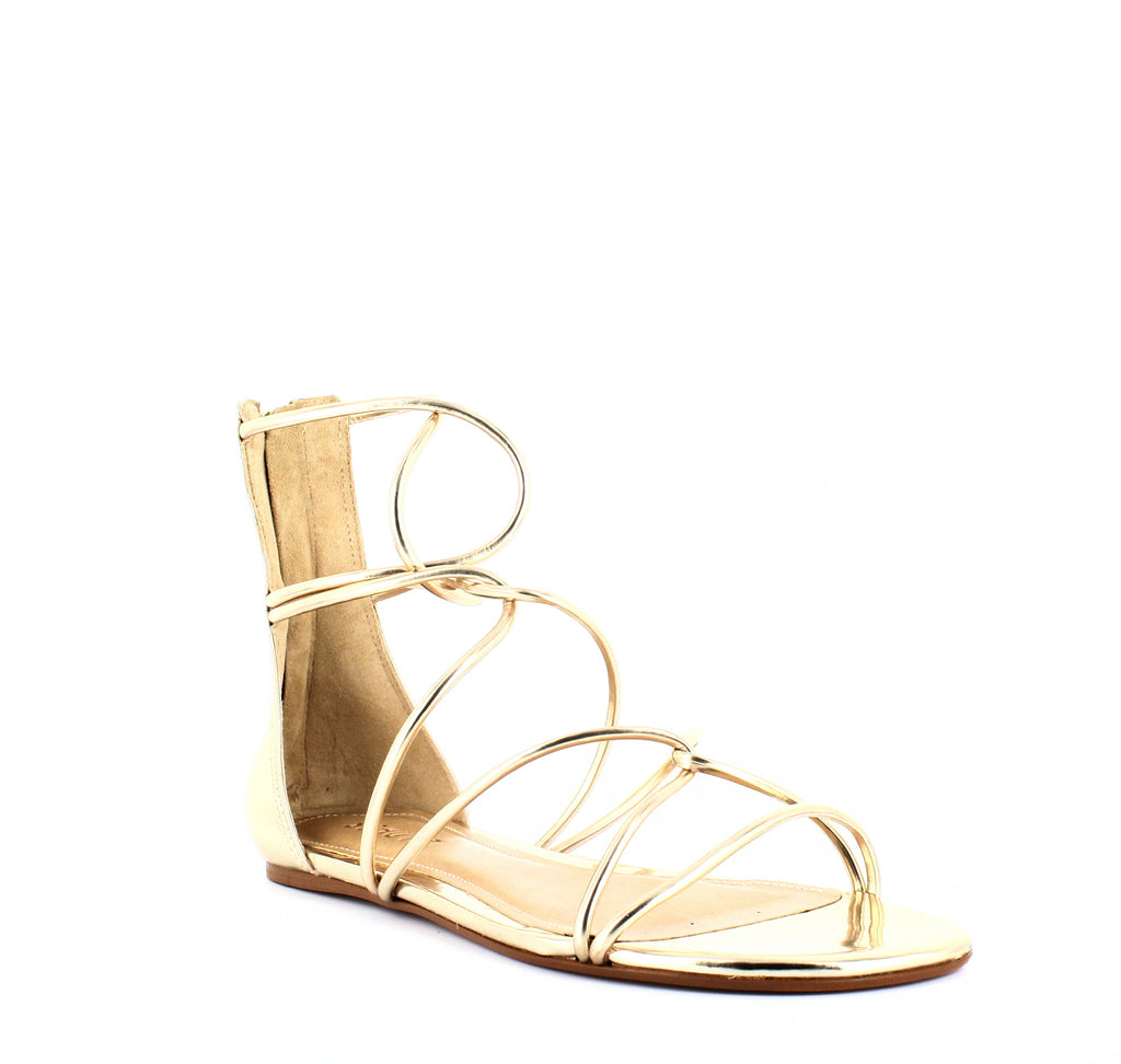 Schutz | Fabia Metallic Gladiator Sandals