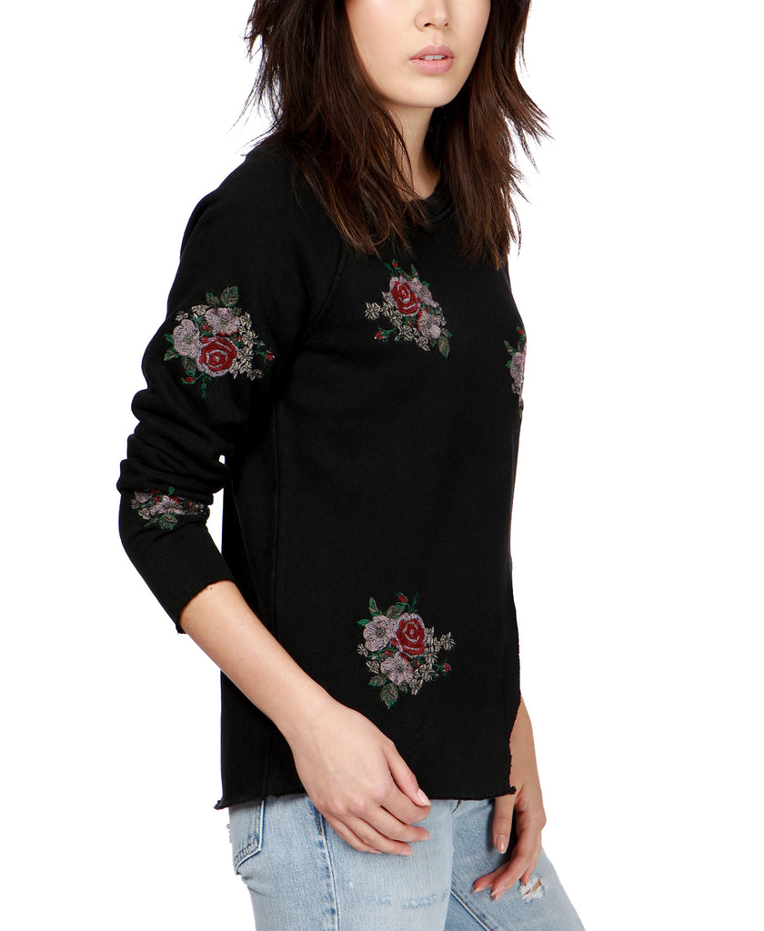 Yieldings Discount Clothing Store's Cotton Embroidered Knit Top by Lucky Brand in Black