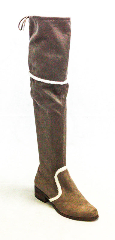 Yieldings Discount Shoes Store's Gunter Microsuede Boots by Charles By Charles David in Dark Taupe