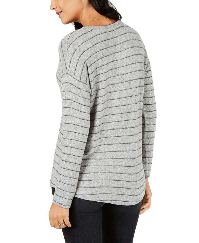 Yieldings Discount Clothing Store's Striped Long-Sleeve Top by Style & Co. in LC Stripe