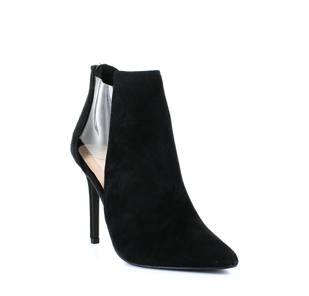Yieldings Discount Shoes Store's Arie Cut-Out Ankle Booties by Fergie in Black