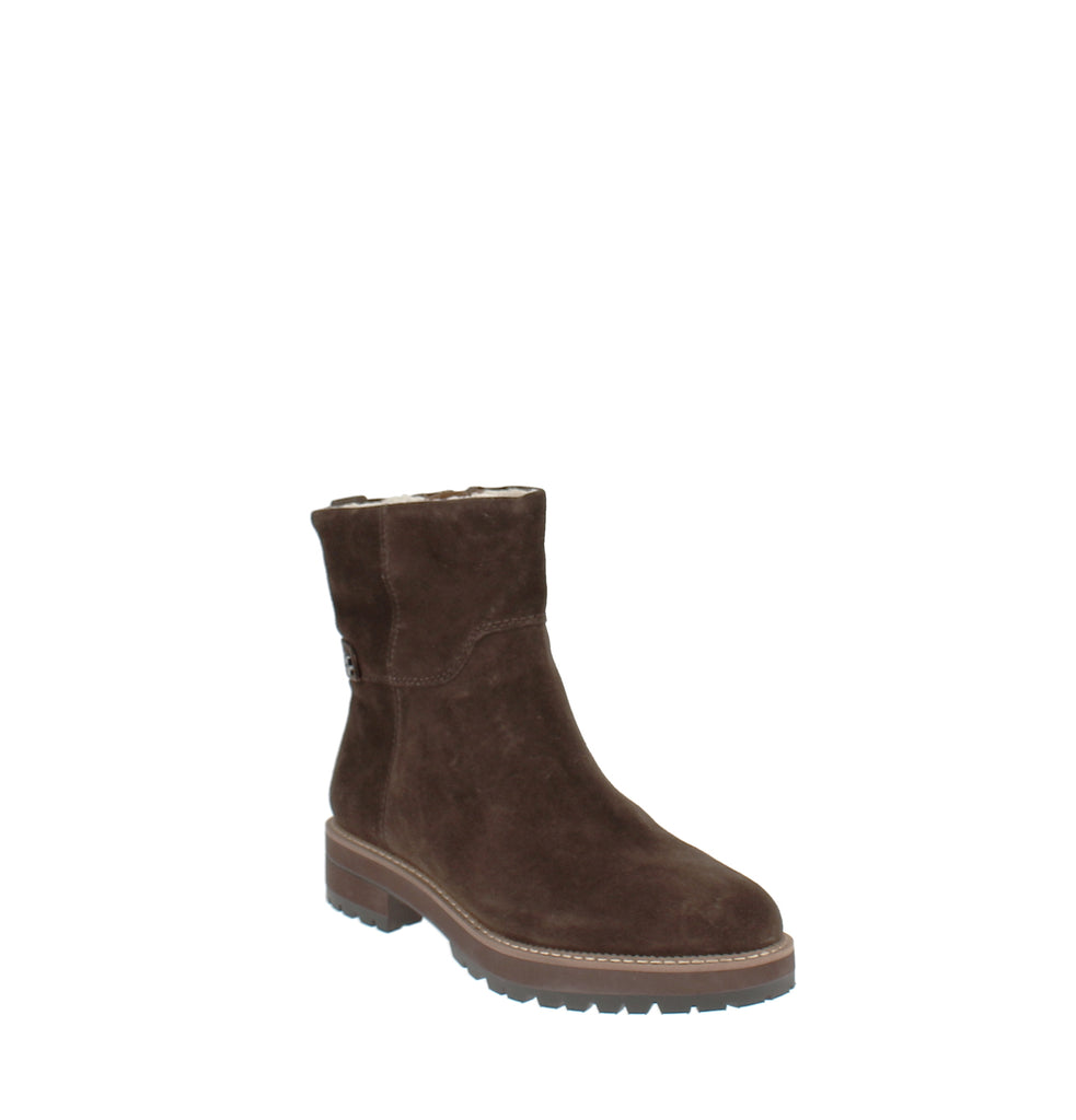Yieldings Discount Shoes Store's Roalba Booties by Franco Sarto in Brown Suede
