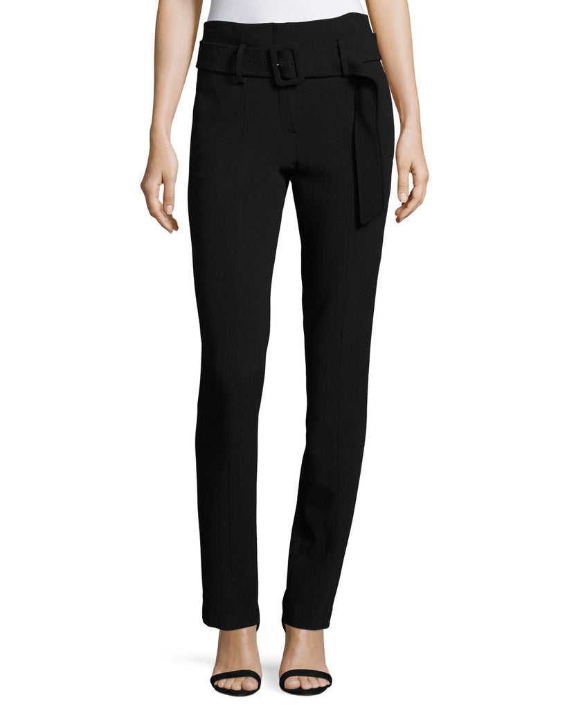 Yieldings Discount Clothing Store's Belted Ponte Pants by Theory in Black