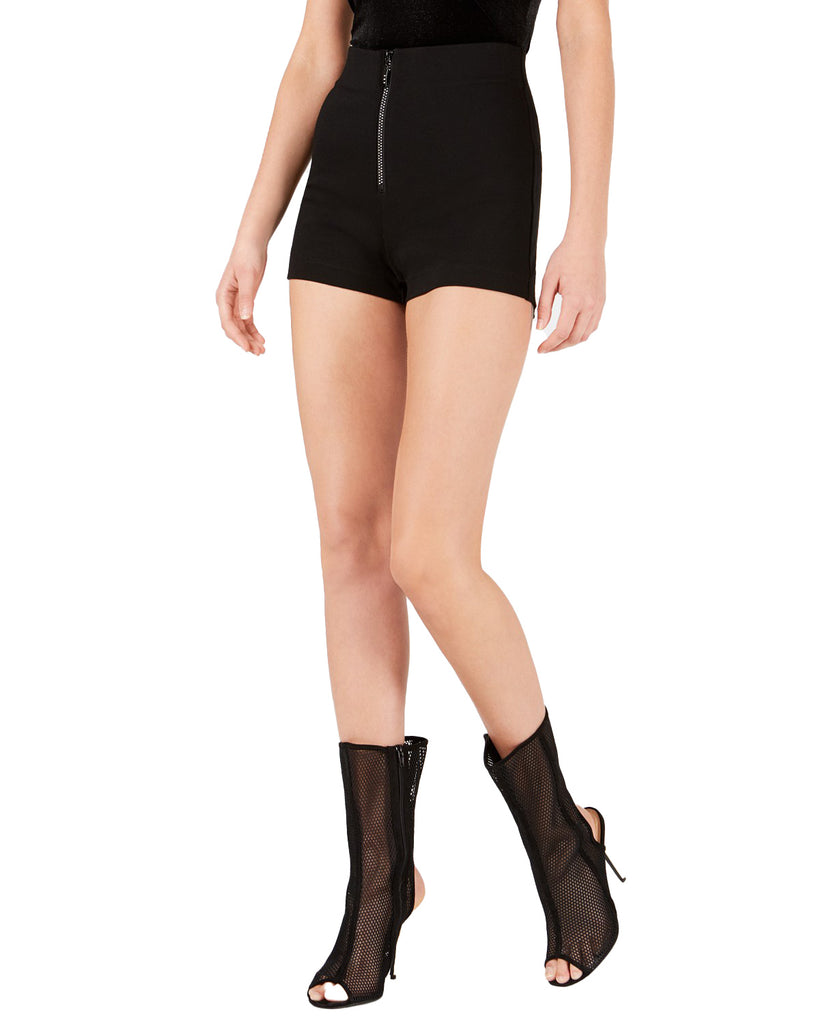 Yieldings Discount Clothing Store's Lolo Zippered Shorts by Guess in Jet Black