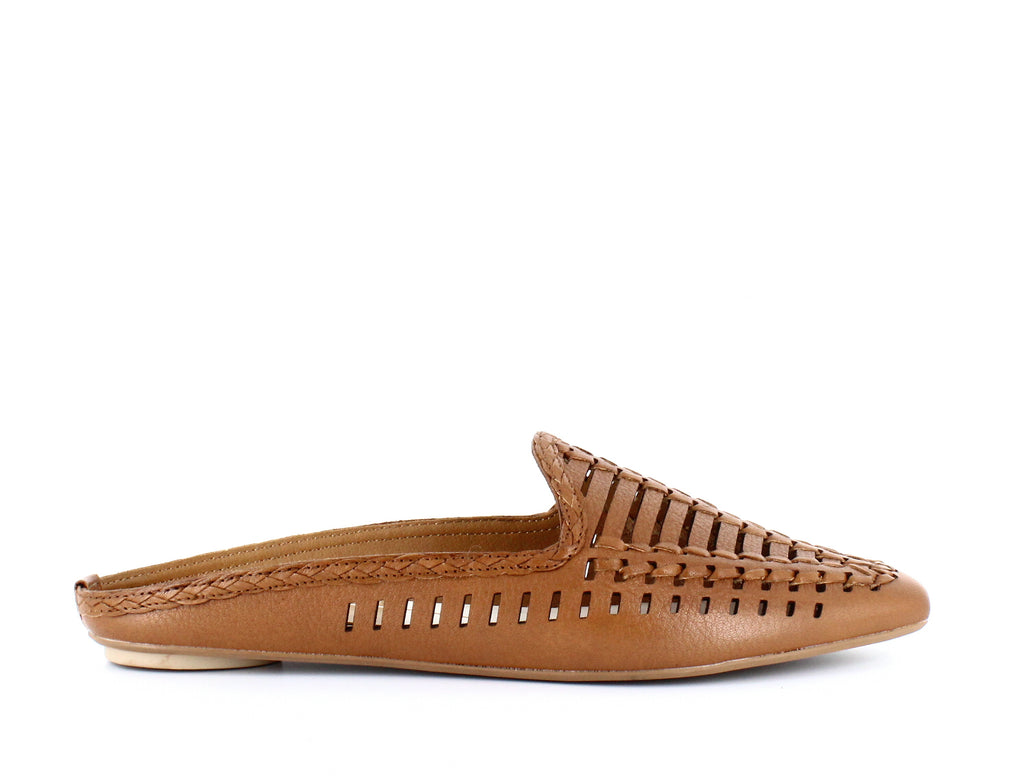 Yieldings Discount Shoes Store's Ginny Woven Mules by Dolce Vita in Caramel Leather