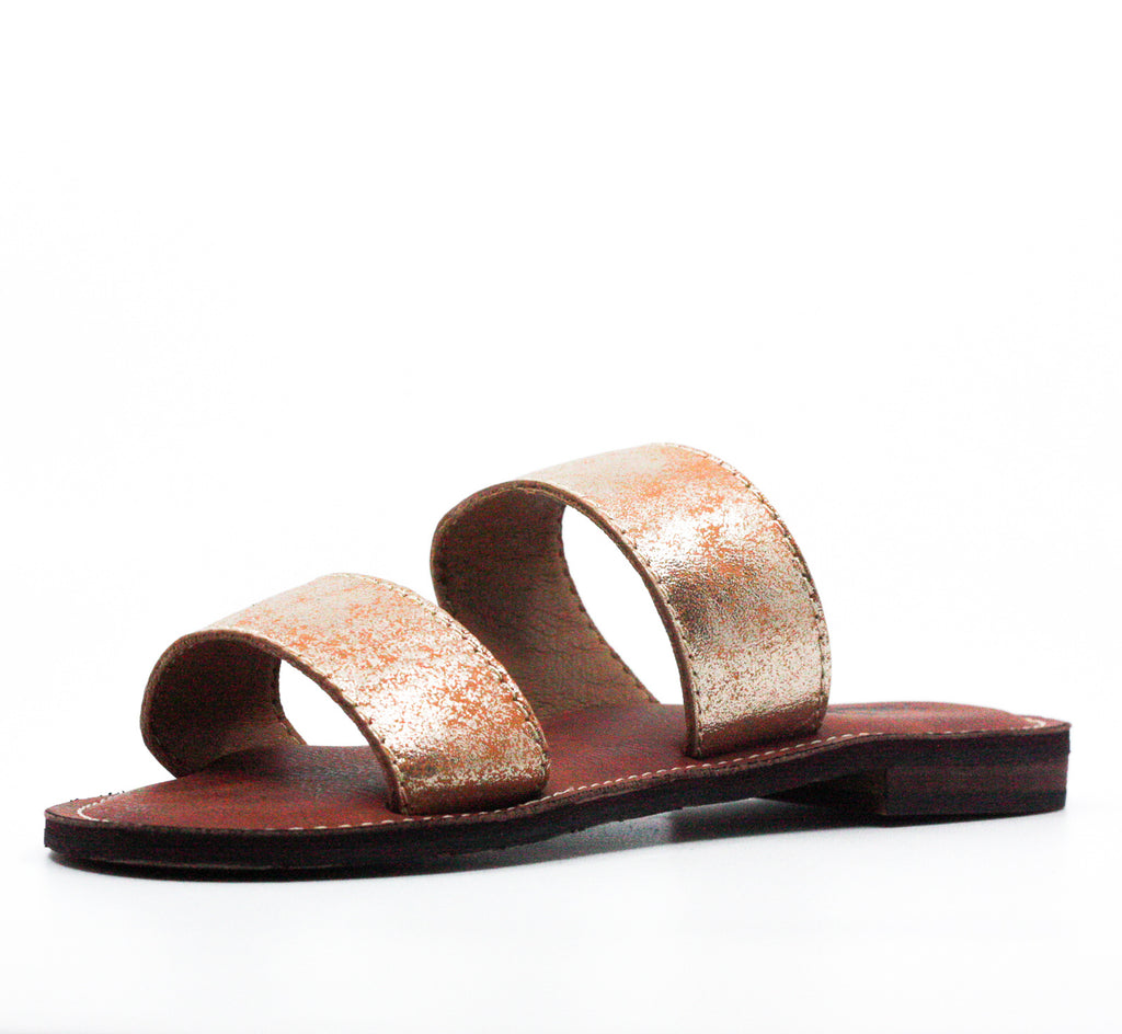 Yieldings Discount Shoes Store's Flair Flat Sandals by Patricia Nash in Gold