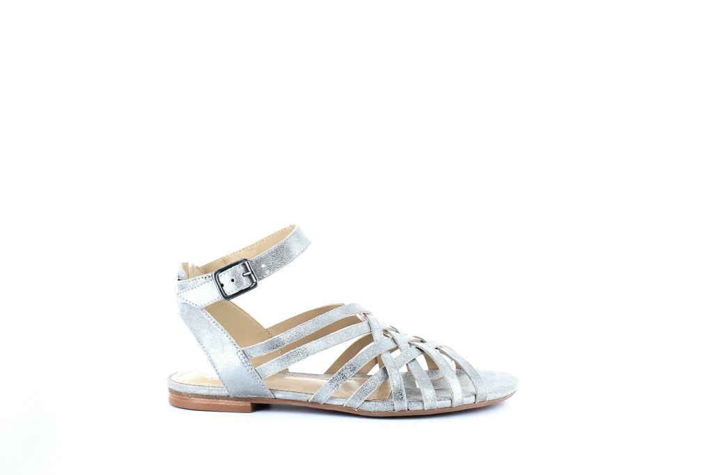 Yieldings Discount Shoes Store's Hallie Sandals by Johnston & Murphy in Pewter