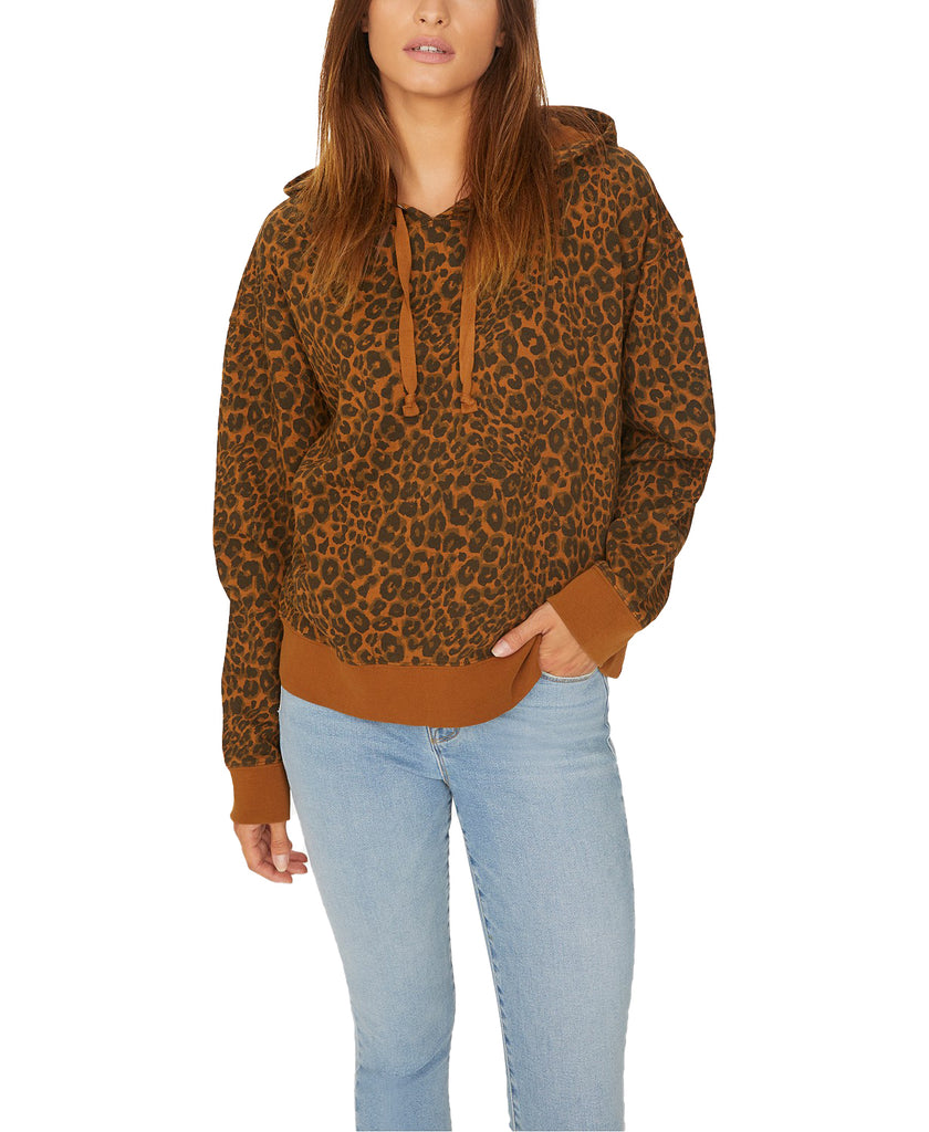 Yieldings Discount Clothing Store's Venice Hoodie by Sanctuary in Leopard