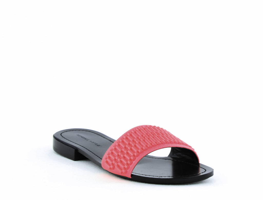 Yieldings Discount Shoes Store's Kennedy 4 Slide On Sandals by Kendall + Kylie in Medium Pink Leather