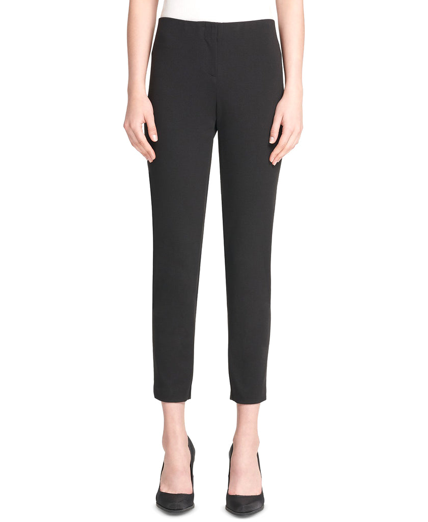 Yieldings Discount Clothing Store's Pull-On Skinny Pants With Faux-Leather Trim by DKNY in Black