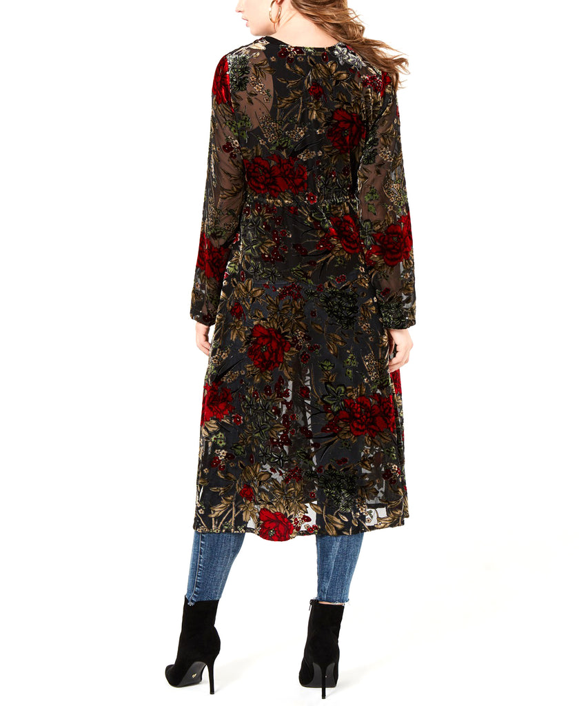 Guess | Stephanie Velvet-Embroidered Duster Cardigan