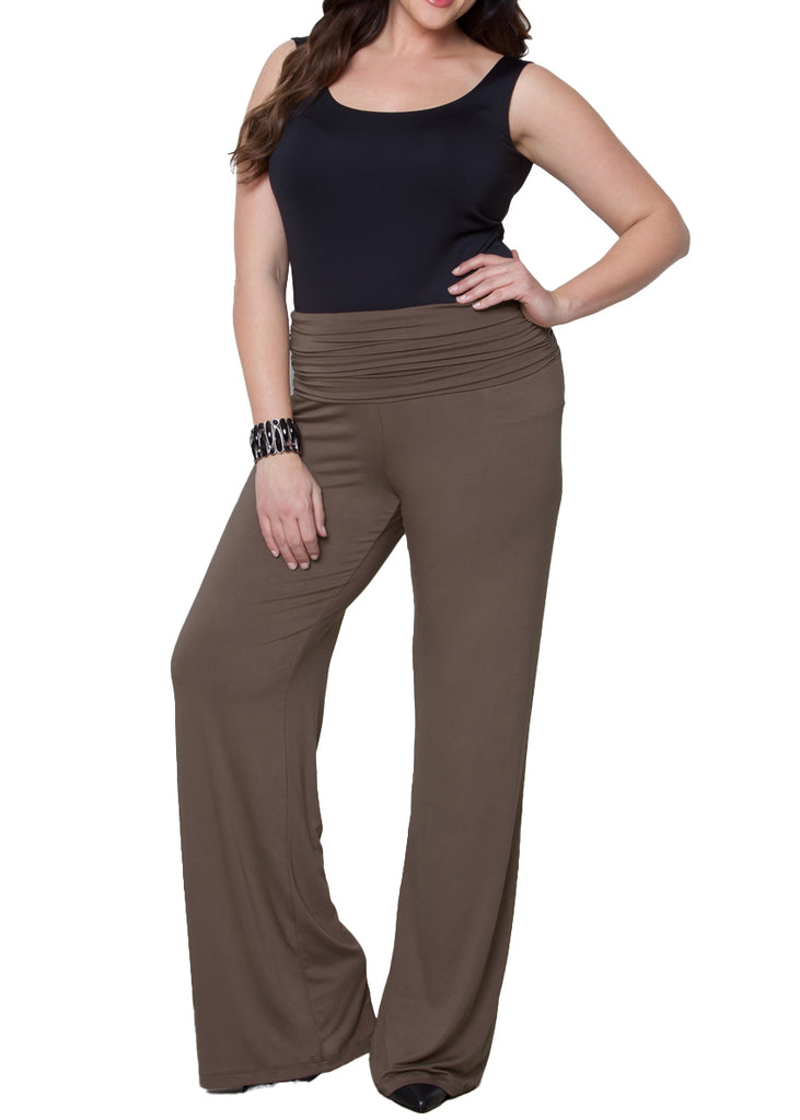 Yieldings Discount Clothing Store's Peyton Palazzo Pants by Kiyonna in TAU