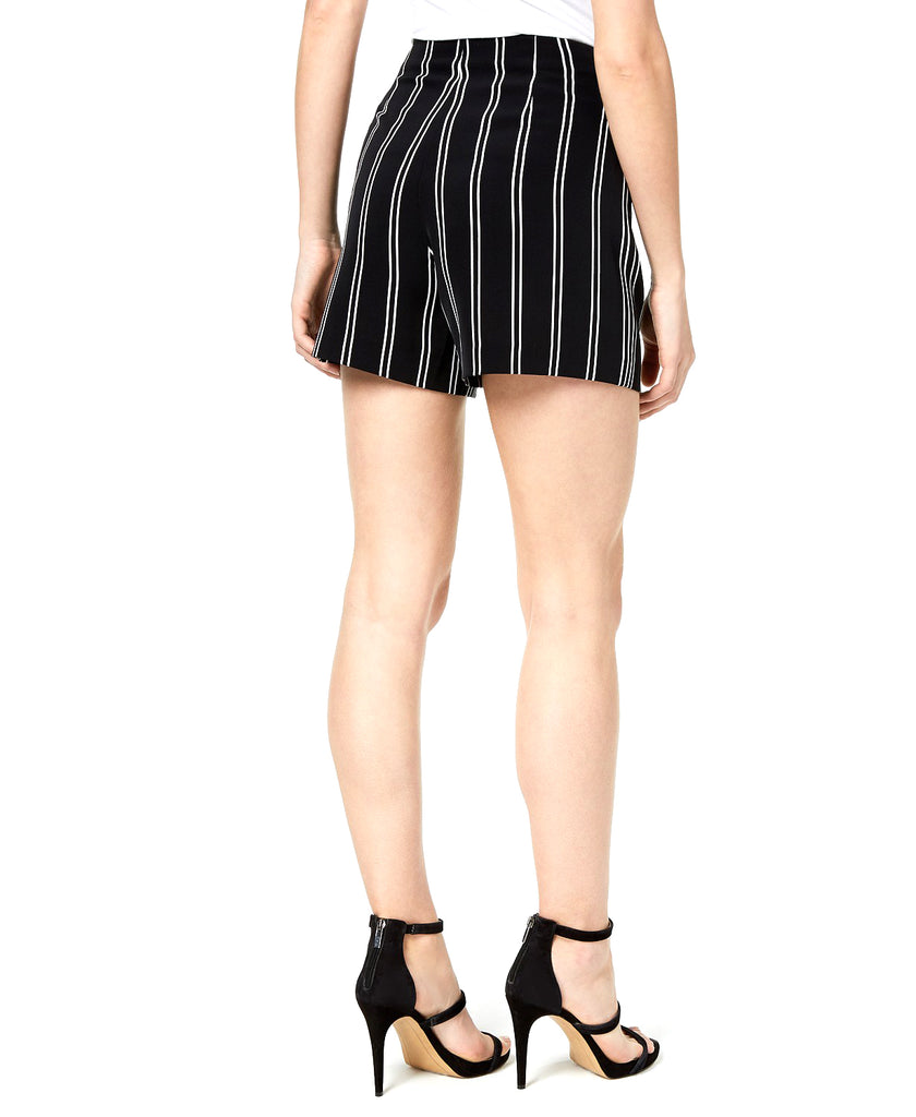 Yieldings Discount Clothing Store's Stripe Tie Front Short by Bar III in Dark Shadow Combo