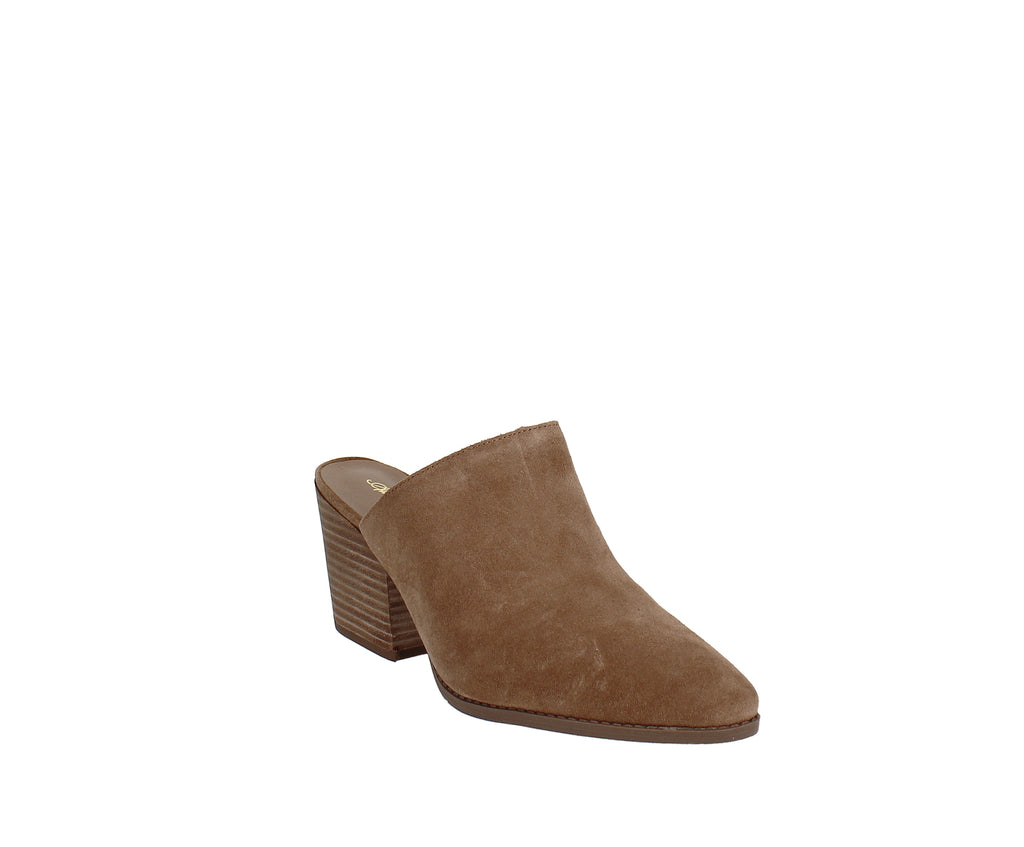 Yieldings Discount Shoes Store's Heidi Closed Toe Mules by American Rag in Tan Suede