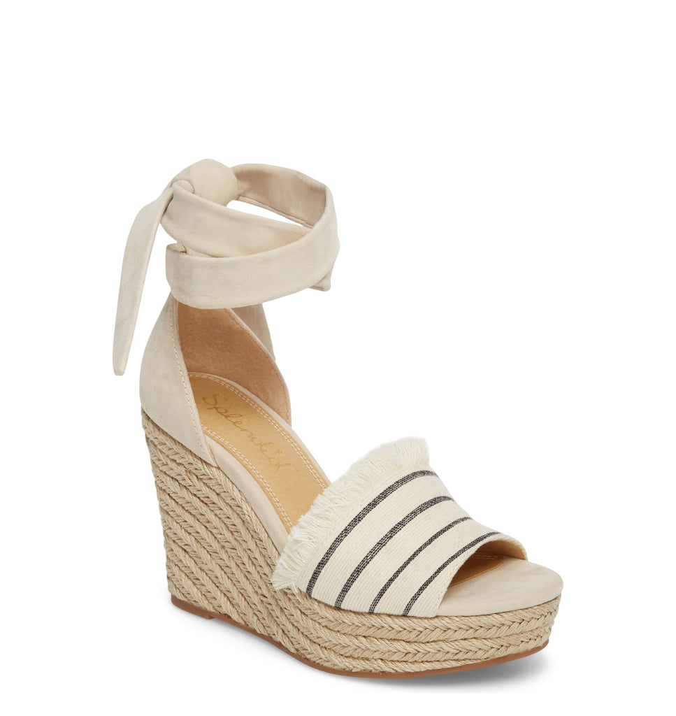 Yieldings Discount Shoes Store's Barke Wedge Sandals by Splendid in Cream Combo