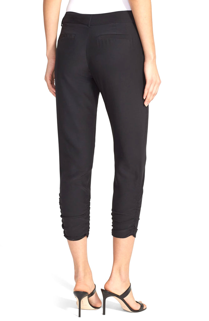 Yieldings Discount Clothing Store's Devlin Silk Casual Trousers by Parker in Black