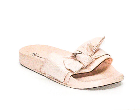 Yieldings Discount Shoes Store's Knotted Pool Slide Sandals by INC in Pink