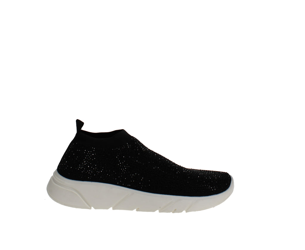 Yieldings Discount Shoes Store's Kalama Stretch Wedge Sneaker by INC in Black