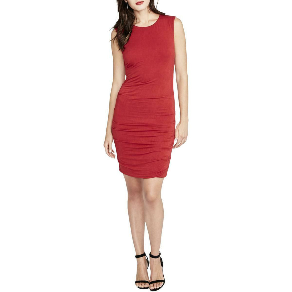 Yieldings Discount Clothing Store's Draped Bodycon Dress by RACHEL Rachel Roy in Carmine Red