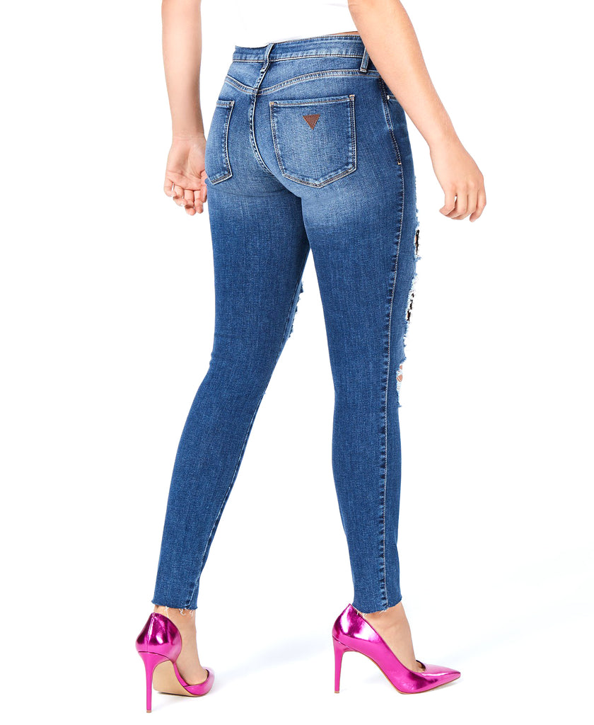 Guess | Ripped Mesh-Inset Jeans