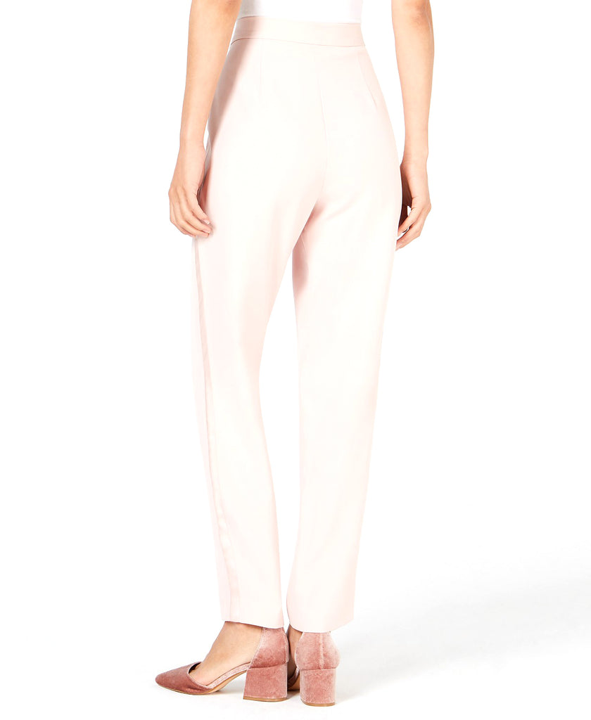 Yieldings Discount Clothing Store's Pleated Satin-Striped Pants by Leyden in Powder Blush