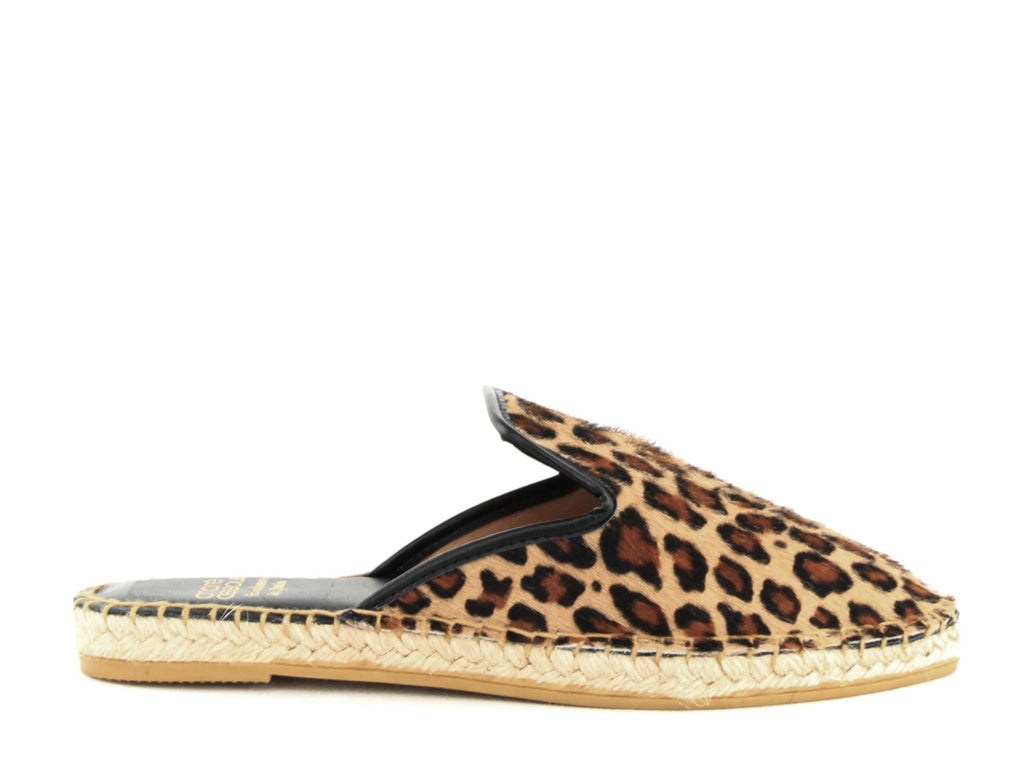 Yieldings Discount Shoes Store's Marsha Flat Slide by Andre Assous in Leopard Pony