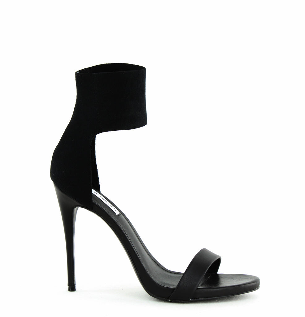 Yieldings Discount Shoes Store's Marcey Stiletto Sandals by Steve Madden in Black
