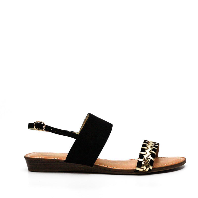 Yieldings Discount Shoes Store's Tex Flat Sandals by Carlos Santana in Black