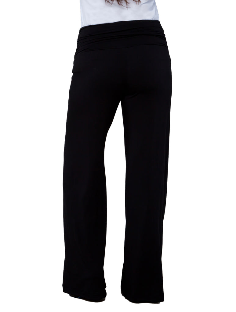 Yieldings Discount Clothing Store's Peyton Palazzo Pants by Kiyonna in Black