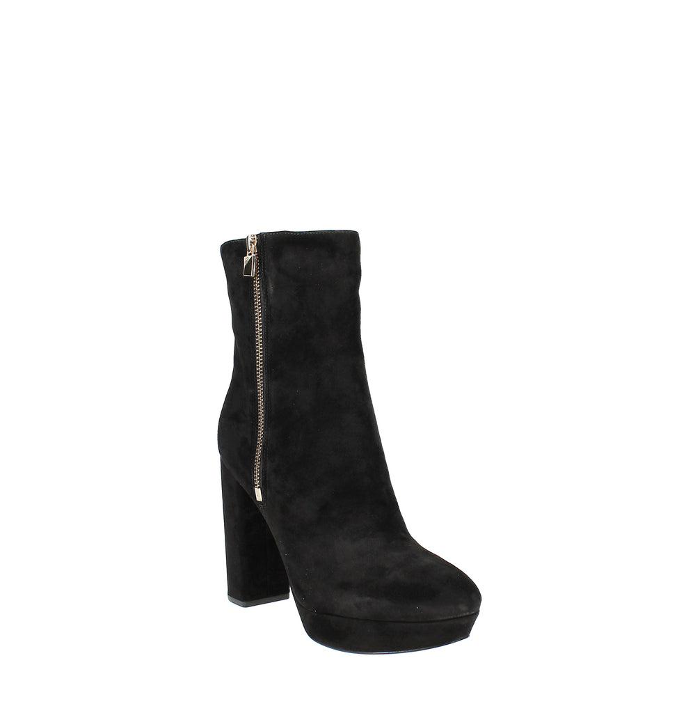 Yieldings Discount Shoes Store's Frenchie Platform Booties by MICHAEL Michael Kors in Black Suede