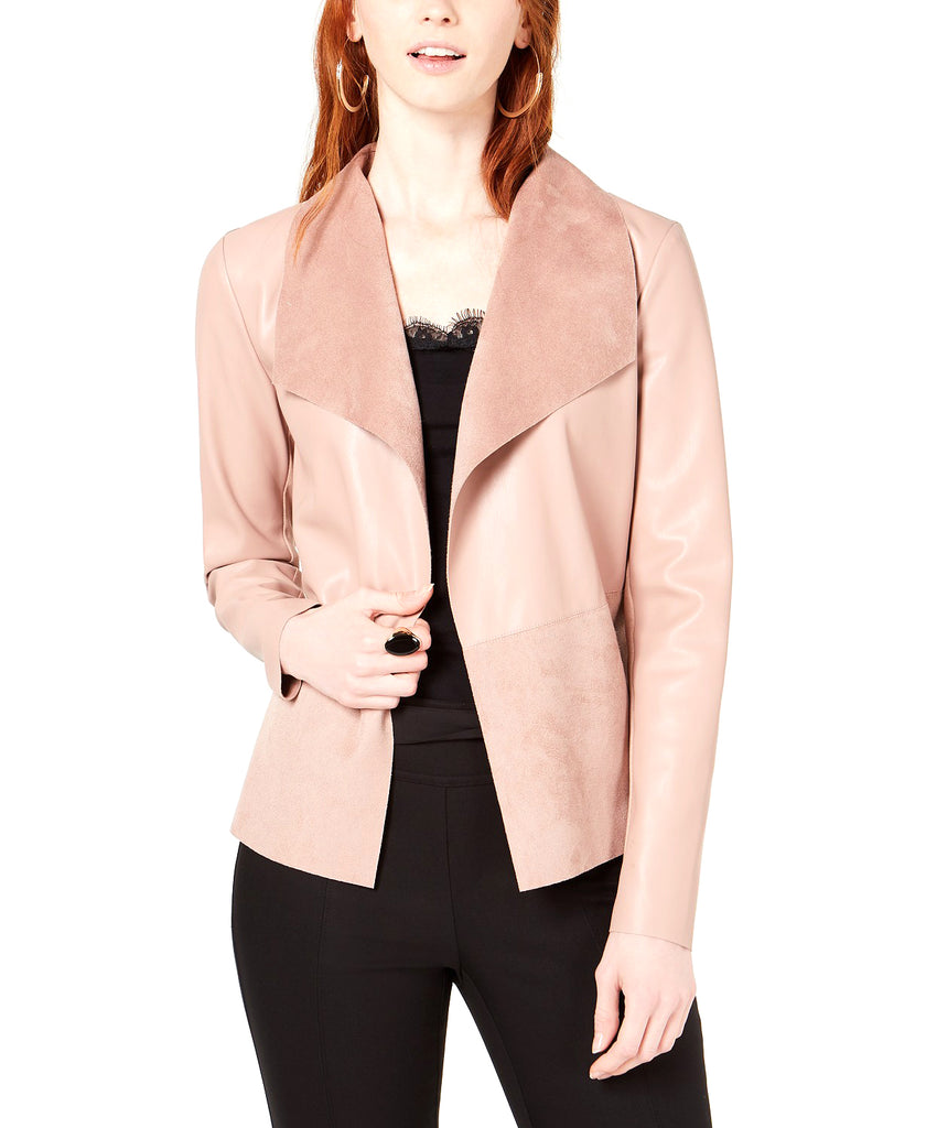 Yieldings Discount Clothing Store's Moleskin Drape-Front Jacket by Bar III in Frosted Mauve