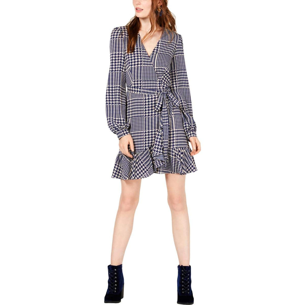 Yieldings Discount Clothing Store's Wrap Dress by Leyden in Houndstooth