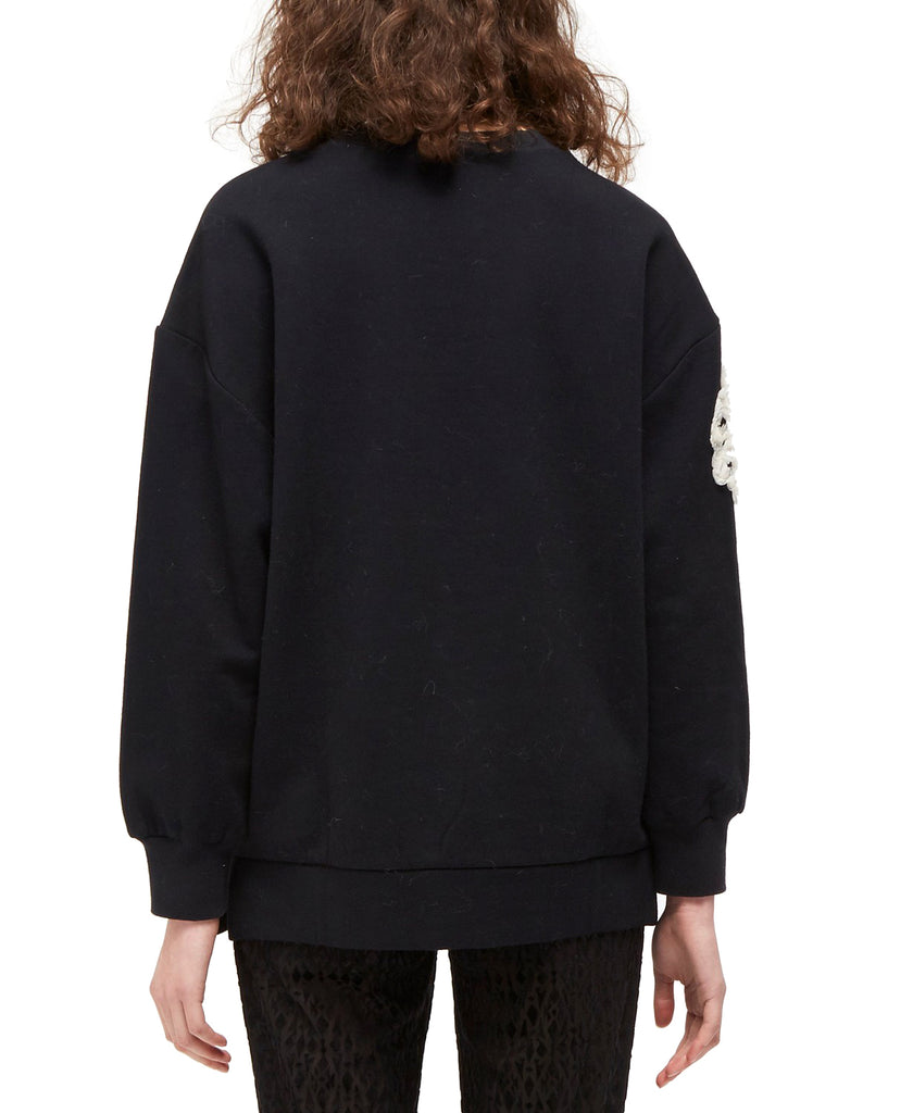 Yieldings Discount Clothing Store's Embellished Crew-Neck Top by French Connection in Black/Cream