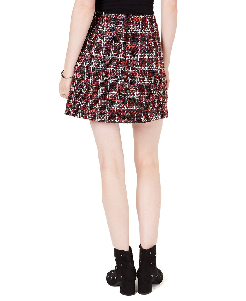 Yieldings Discount Clothing Store's Tweed Mini Skirt by Maison Jules in Red/Black