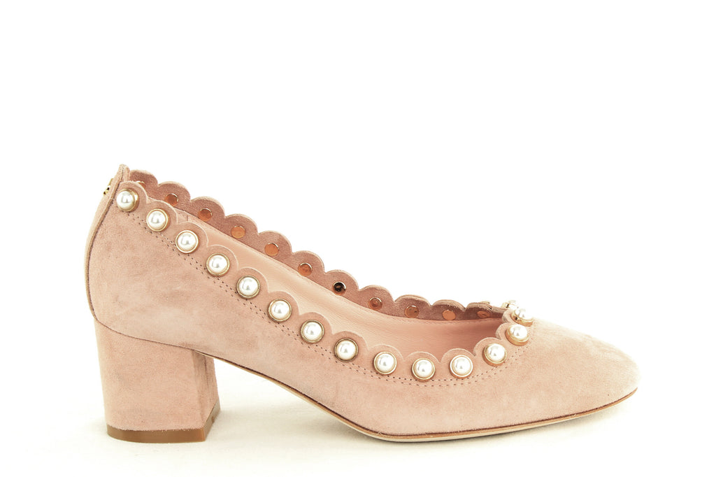 Yieldings Discount Shoes Store's Maeve Block Heel Pumps by Kate Spade in Fawn