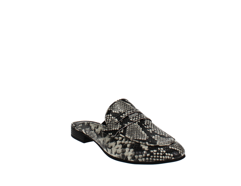 Yieldings Discount Shoes Store's Harding Penny Mules by Circus by Sam Edelman in Leather Snake