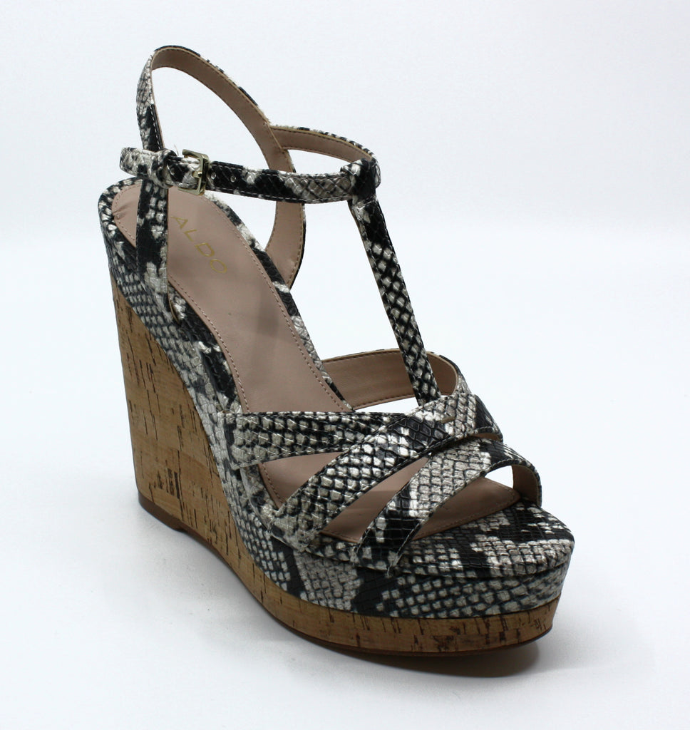 Yieldings Discount Shoes Store's Nydaycia Wedge Sandals by Aldo in Natural