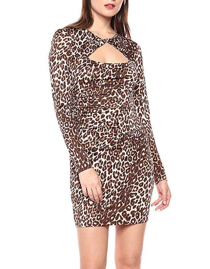 Yieldings Discount Clothing Store's Joslyn Dress by Guess in Spotted Bengal